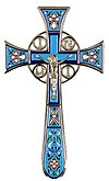 Blessing cross no.4-1 (light blue)