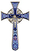 Blessing cross no.4-1 (blue)