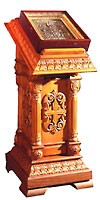 Church lecterns: Single carved lectern no.1