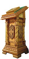 Church lecterns: Single carved lectern no.2