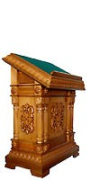 Church lecterns: Double carved lectern