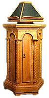 Church lecterns: Round kliros lectern
