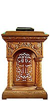 Church lecterns: Jerusalem carved lectern