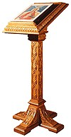 Church lecterns: Cross-type carved lectern