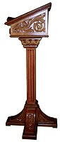 Church lecterns: Galilea carved lectern