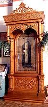 Church kiots: Pokrov carved icon case (kiot) - 2