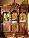 Church kiots: Triple carved icon case (kiot)