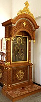Church kiots: Phanar carved icon case (kiot)