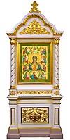 Church kiots: Pyukhtitsy carved icon case (kiot)
