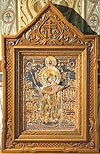 Church kiots: Balaam carved icon case (kiot) - 2