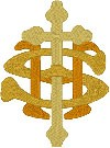 3 Color Intertwined IHS embroidered applique