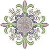 Vintage Ecclesiastical Design 726 embroidered applique