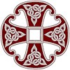 Canterbury Cross with Celtic Knots embroidered applique