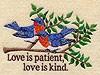Love Is Patient Bluebirds