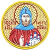 Embroidered icon - St. Prince Oleg of Bryansk
