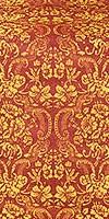 Velvet Bouquet metallic brocade (claret/gold)