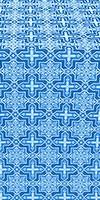 Custodian metallic brocade (blue/silver)