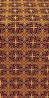 Custodian metallic brocade (claret/gold)