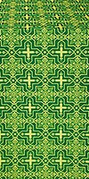 Custodian silk (rayon brocade) (green/gold)