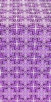 Custodian metallic brocade (violet/silver)