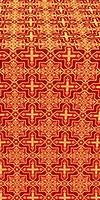 Custodian silk (rayon brocade) (red/gold)