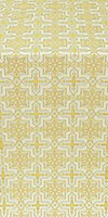 Custodian silk (rayon brocade) (white/gold)