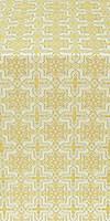 Custodian metallic brocade (white/gold)