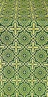 Zlatoust silk (rayon brocade) (green/gold)