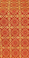 Zlatoust silk (rayon brocade) (red/gold)