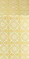 Zlatoust silk (rayon brocade) (white/gold)