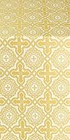 Zlatoust silk (rayon brocade) (white/gold)