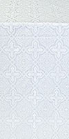 Zlatoust silk (rayon brocade) (white/silver)