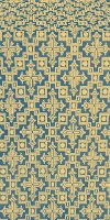 Solovki metallic brocade (blue/gold)