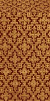 Solovki metallic brocade (claret/gold)