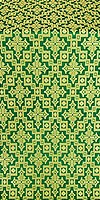 Solovki silk (rayon brocade) (green/gold)