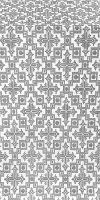 Solovki silk (rayon brocade) (white/silver)