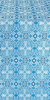 Nicea silk (rayon brocade) (blue/silver)