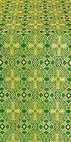 Nicea silk (rayon brocade) (green/gold)