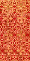 Nicea silk (rayon brocade) (red/gold)