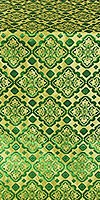 Souzdal silk (rayon brocade) (green/gold)