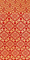 Souzdal silk (rayon brocade) (red/gold)