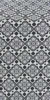 Souzdal silk (rayon brocade) (black/silver)