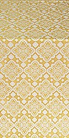 Souzdal silk (rayon brocade) (white/gold)