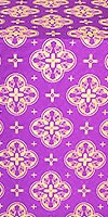 Kostroma silk (rayon brocade) (violet/gold)