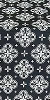 Kostroma silk (rayon brocade) (black/silver)