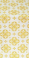Kostroma silk (rayon brocade) (white/gold)