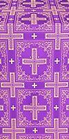 Iveron silk (rayon brocade) (violet/gold)