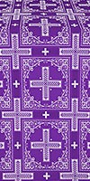 Iveron silk (rayon brocade) (violet/silver)