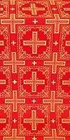 Iveron silk (rayon brocade) (red/gold)