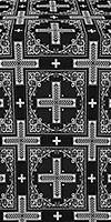 Iveron silk (rayon brocade) (black/silver)